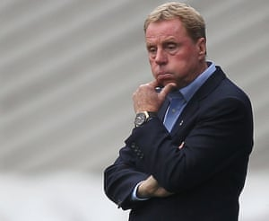 Birmingham City manager Harry Redknapp looks glum as his side slump to a 3-1 home defeat