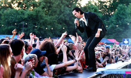 'Art must be wrestled from the hands of the pious' ... Nick Cave performing at the All Points East festival, London, 3 June 2018.