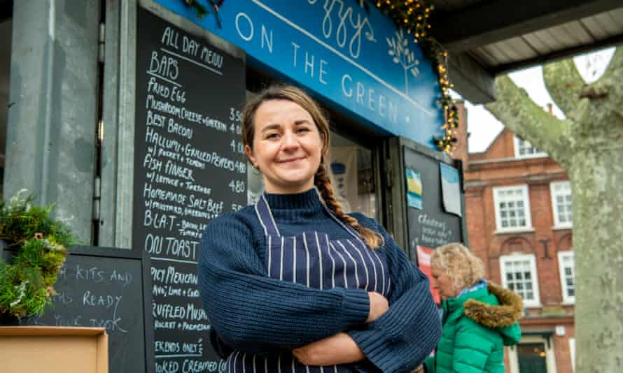 Lizzy Bassham, owner of the cafe Lizzy's on the Green.