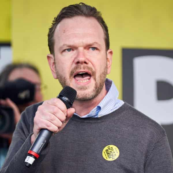 James O'Brien at the Put It To the People protest in London, 23 March 2019