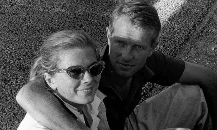 Peter Collins and his wife, Louise King, in 1957.