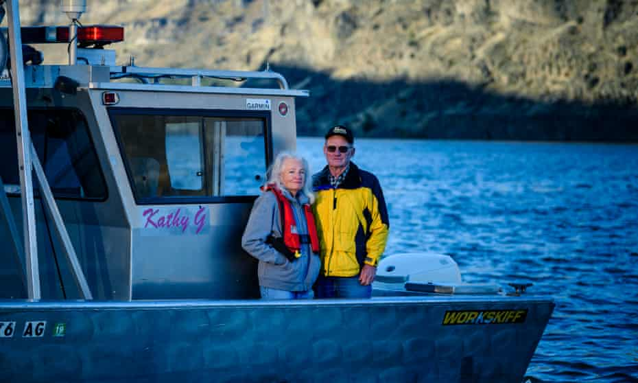 Gene and Sandy Ralston on Lake Billy Chinook in Jefferson County, Oregon.