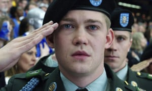 'Taking away the tech, there's still a jarring mismatch between source material and film-maker' ... Joe Alwyn in Billy Lynn's Long Halftime Walk.