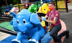 Extra cleaning at Chessington World of Adventures in Surrey ahead of its planned reopening.