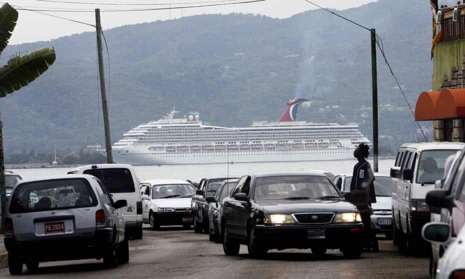 A cruise ship in Montego Bay, Jamaica, 2007.