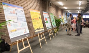 Information boards at a Citizens Assembly session