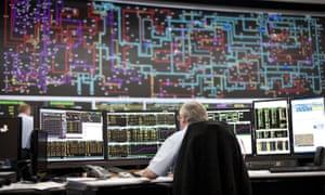 The National Grid control centre in Sindlesham, Berkshire