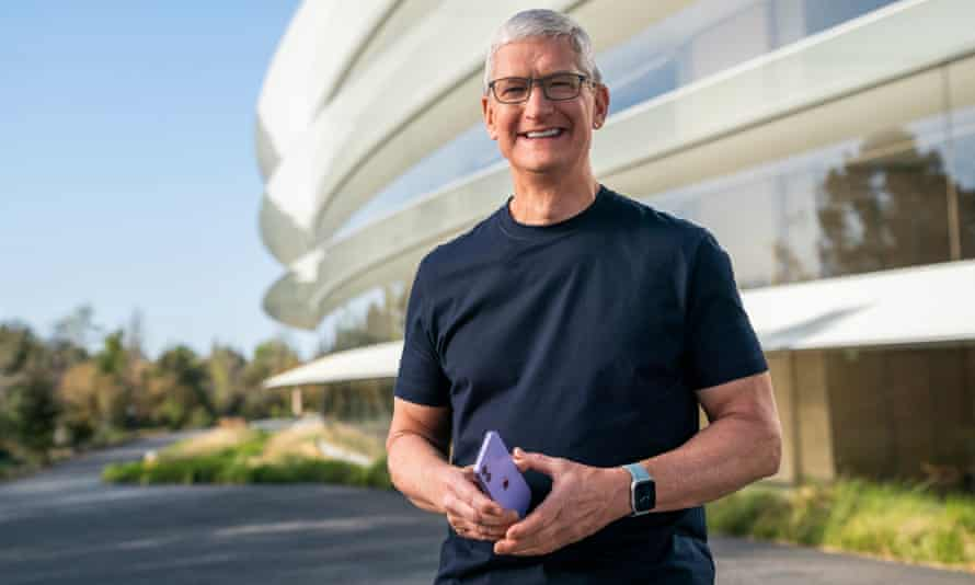 Apple's boss, Tim Cook, has been carefully positioning the company as the defender of your data.
