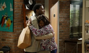 A still from The Carmichael Show's Shoot-Up-Able episode