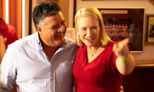 NT's deputy chief minister, Nicole Manison, and Mark Monaghan on Saturday night. Monaghan is leading by 137 votes.