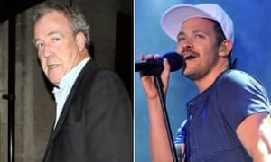 (L-R) Jeremy Clarkson and Will Young.