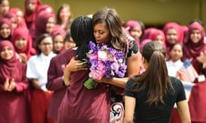 Michelle Obama visits the Mulberry School for Girls