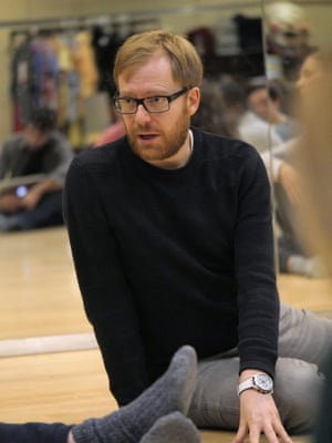 'Really good plays pull you into a space where your rational mind is transcended or destabilised' … Joe Hill-Gibbins in rehearsals for A Midsummer Night's Dream.
