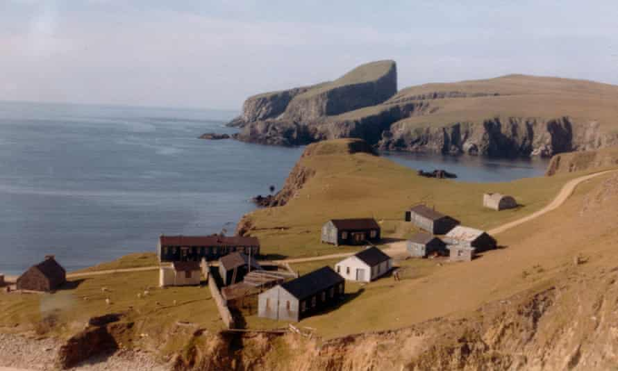 The Fair Isle bird observatory. Peter Davis and his wife, Angela, moved there in 1957. It is a prime hotspot for rare birds