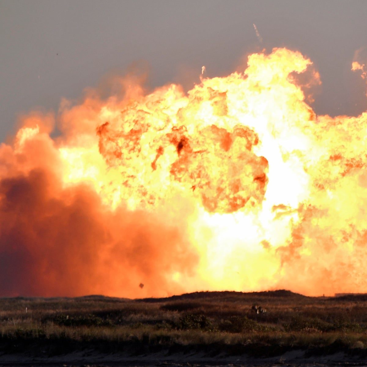 SpaceX Starship SN8 explodes on landing after test flight   SpaceX   The  Guardian