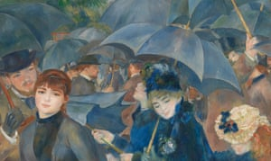 Detail from Pierre-Auguste Renoir's The Umbrellas.