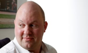 Marc Andreessen in New York. 'Last night I made an ill-informed and ill-advised comment about Indian politics and economics.'