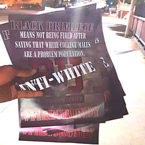 racially charged BU posters