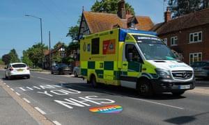 Ambulance in Berkshire