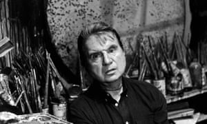 Francis Bacon photographed in his studio by Jane Bown in 1980