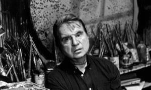Francis Bacon em seu estúdio South Kensington em 1980
