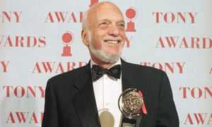 Hal Prince receiving his Tony award for best director in a musical for Show Boat, New York, 1995 – he received 21 Tony awards including a special award for lifetime achievement.