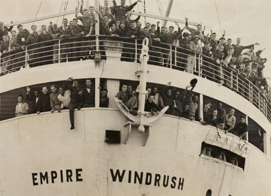 The Empire Windrush arrives in the UK from Jamaica in 1948.