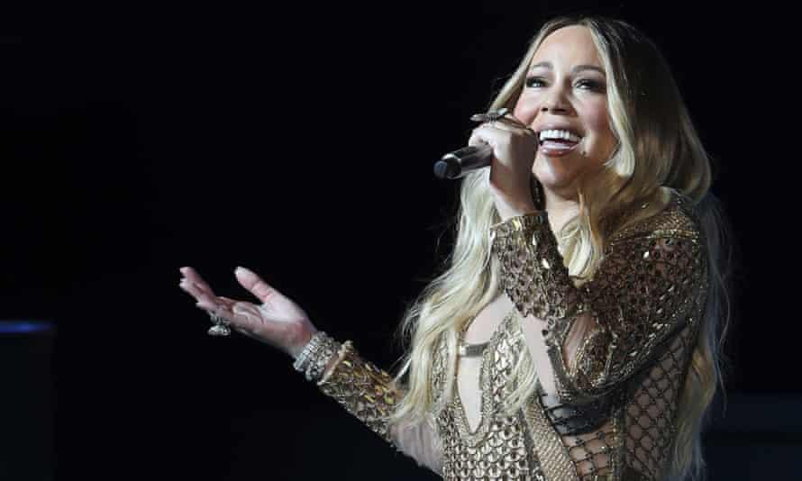 Mariah Carey performing in 2019.