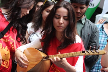 Turkey's government cited 'politically subversive and separatist activities' in banning Grup Yorum members from performing.