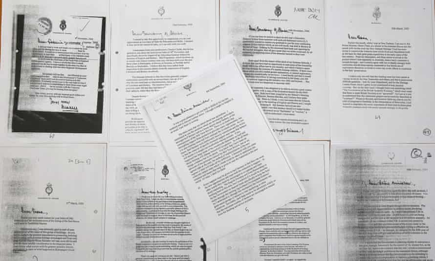 Copies of the letters Charles wrote to government ministers.