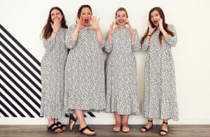 Strength in numbers … four women wear the dress.