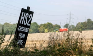 HS2 sign in Buckinghamshire