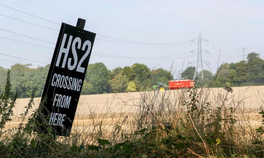 HS2 sign in Buckinghamshire