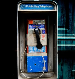 One of New York's fast-disappearing payphones.