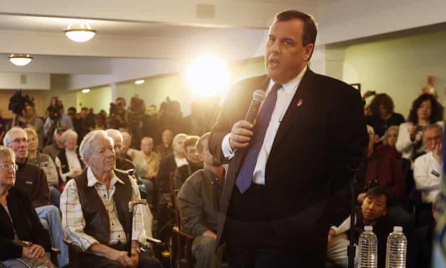 Chris Christie on the campaign trail in New Hampshire.