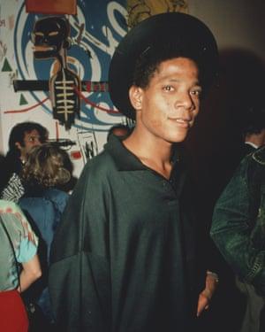 American artist Jean-Michel Basquiat (1960 - 1988), circa 1985.