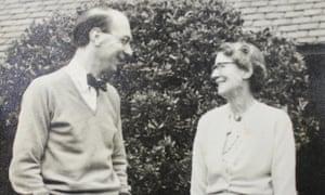Mutually dependent … Philip Larkin with Eva Larkin.