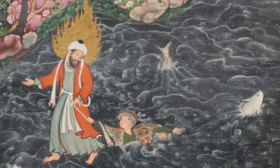 A detail from The Hamzanama (c 1558–73, India) in the new Albukhary Foundation Gallery of the Islamic World.