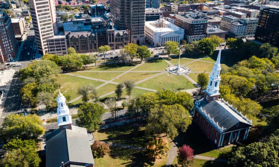 New Haven Green, Connecticut. At least 46 people have overdosed from a suspected bad batch of K2.
