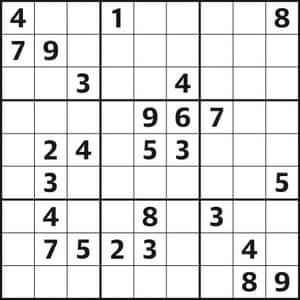 Sudoku 4,424 hard | Life and style | The Guardian