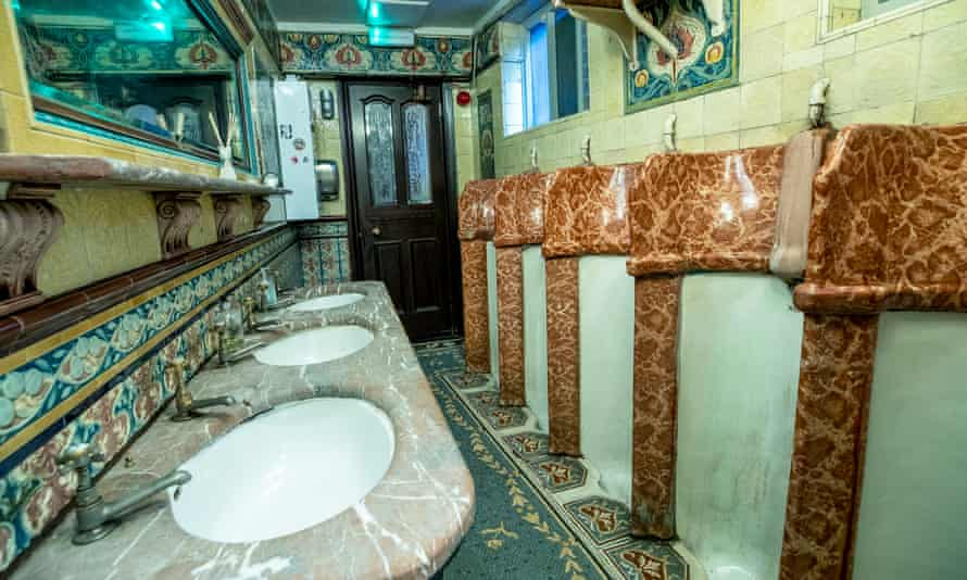 The gentlemen's toilets of the Philharmonic Dining Rooms pub in Hope Street, Liverpool.