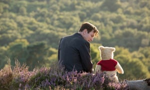 Ewan McGregor and Winnie-the-Pooh in Christopher Robin