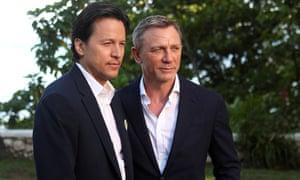 Cary Fukunaga and actor Daniel Craig at the start of the shoot, 25 April 2019.