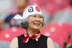 A Japanease fan adorns the colours