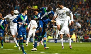 Ronaldo heads home his and Real Madrid's second goal.