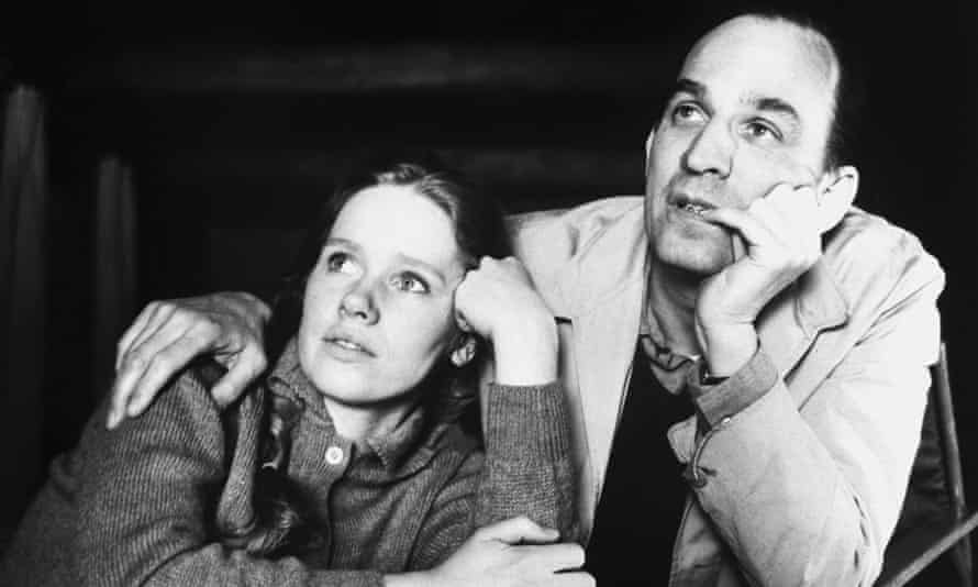 Liv Ullmann and and Ingmar Bergman during a break in filming on Hour of the Wolf in 1968.