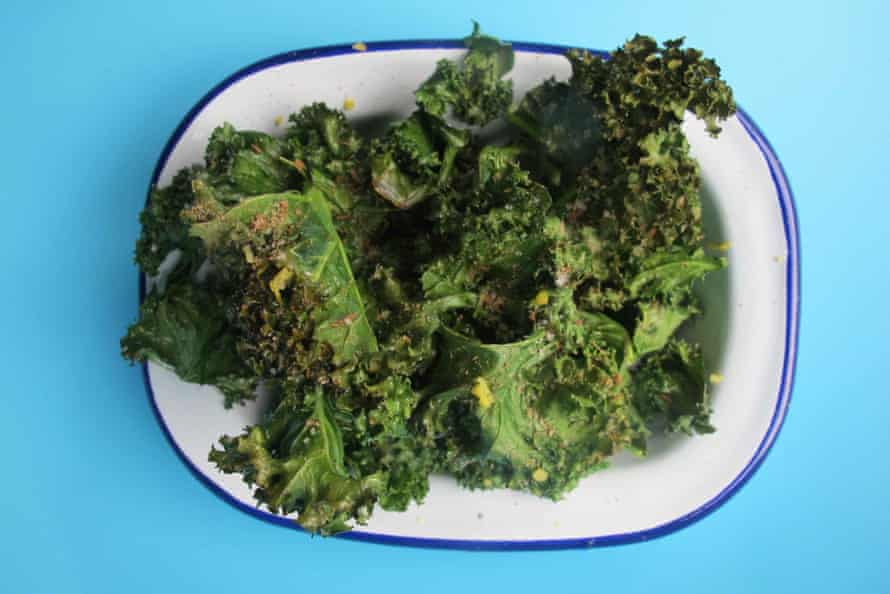 Nicholas Balfe's kale crisps with cumin salt.