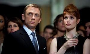 Bond girl: Gemma Arterton as Strawberry Fields in Quantum of Solace, with Daniel Craig.