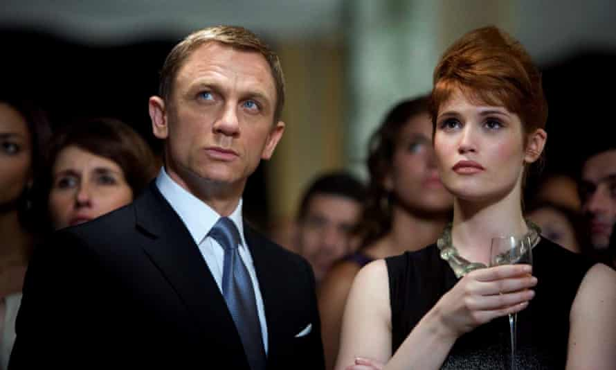 Bond girl: Gemma Arterton as Strawberry Fields in Quantum of Solace, with Daniel Craig.
