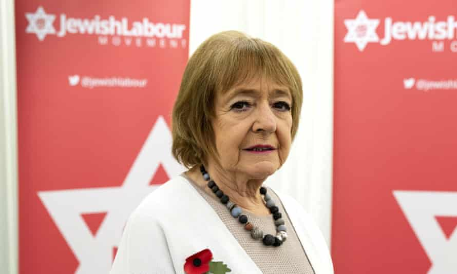 Dame Margaret Hodge MP at a press conference on antisemitism in the Labour party